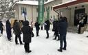 Risti tuulepargi vastane meeleavaldus Palivere koolimaja ees