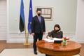 Prime Minister Jüri Ratas met Svetlana Tikhanovskaya during her two-day visit to Tallinn on January 22.