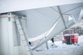 Coronavirus testing center tent at Tallinn's Song Festival Grounds collapses after heavy snowfall.