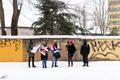 Пикет у белорусского посольства в Таллинне.