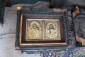 Интерьер церкви в Нарва-Йыэсуу и иконы после пожара