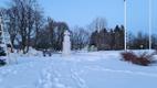Ледяной памятник Освободительной войны на Сааремаа.