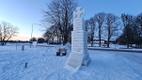 Victory column ice replica on Saaremaa.