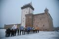 Independence day flag-raising ceremony in Narva.