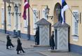 Эстонский флаг в Рижском замке.