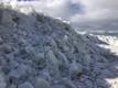 Piles of sea ice have formed in Kiideva in Lääne County.