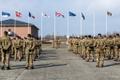 Recent rotation handover ceremony at Tapa base, home of the U.K.-led NATO Enhanced Forward Presence (eFP) Battlegroup.