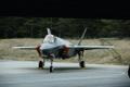 Italian Air Force personnel and their Lockheed Martin Lightning IIs at Ämari.
