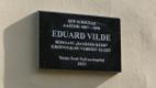 Unveiling of the Eduard Vilde memorial plaque in Narva.