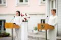 Встреча Керсти Кальюлайд и Светланы Тихановской.