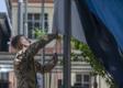 Eesti lipu langetamine Afganistanis Resolute Support missiooni peakorteris.