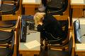 Members of parliament attend the extraordinary Riigikogu sitting, June 12.