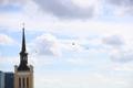 Британские вертолеты над площадью Вабадузе в Таллинне.