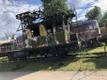 Põlenud dresiin Haapsalu raudteejaamas