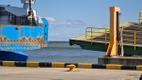 Паром Tõll повредил причал порта Куйвасту.