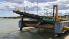 Паром Tõll повредил аппарель для автомобилей причала в порту Куйвасту.