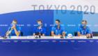 Eesti sõudjad Tokyo OM-i pressikonverentsil