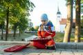 Melu Viljandi pärimusmuusika festivalil.