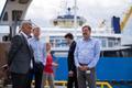 Minister Taavi Aas (paremal) parvlaeval Tõll.