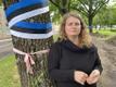 Терье Пывват организовала акцию протеста против вырубки.