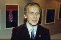 Eesti Draamateatri näitleja, harrastuskunstnik, orhideede maalija Tõnu Tamm, 1985.