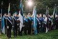 Flag raising ceremony at Toompea.
