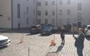 EKRE MP Kalle Grünthal filming Marika-Tuus Laul voting.