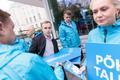 Erakond Isamaa esinumbrid Tallinnas KOV valimistel, keskel Karl Sander Kase, Isamaa kommunikatsioonijuht