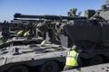 NATO lahingugrupi uue rotatsiooni tankid ja rasketehnika