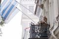 Tallinna trompetikoor esineb linnavolikogu rõdul