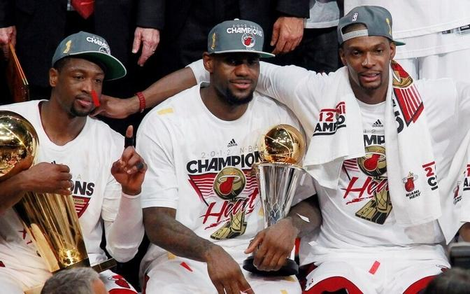 Miami Heat - Dwyane Wade, LeBron James, Chris Bosh