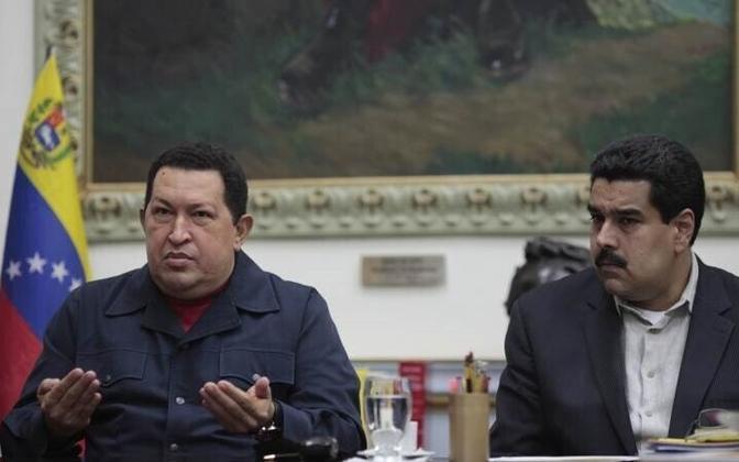 Уго Чавес и Николас Мадуро.
