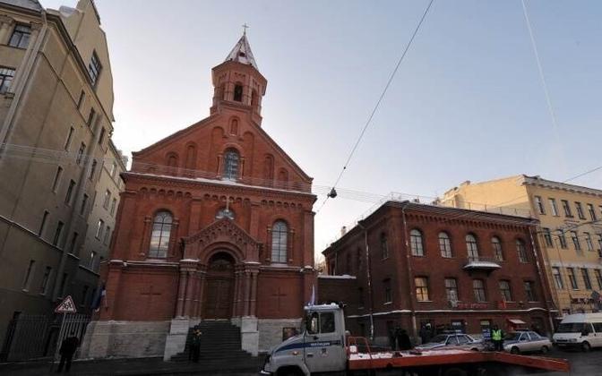 Церковь эстонского прихода Св.Иоанна в Санкт-Петербурге.