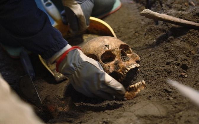 Kohtla-Järvel avastati keskaegne skelett (pilt on illustreeriv)
