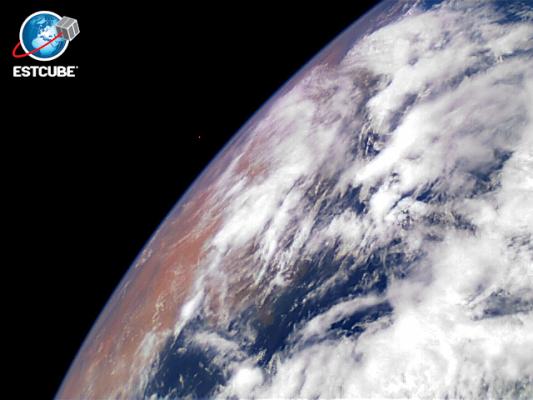 ESTCube-1 tegi esimese pildi Maast