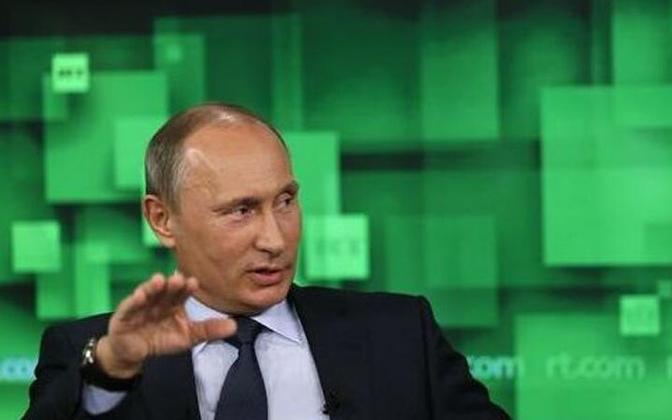 Vladimir Putin telejaamale Russia Today intervjuud andmas.