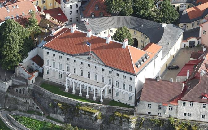Stenbock House, the seat of the Estonian government, on Tallinn's Toompea Hill.