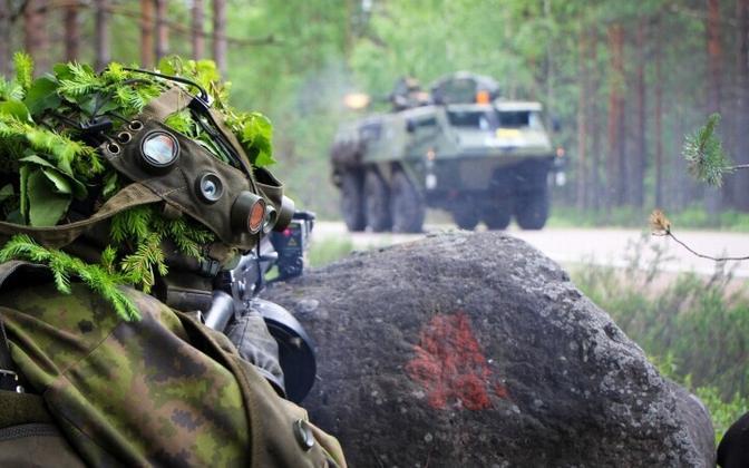 Soome kaitseväe õppus.