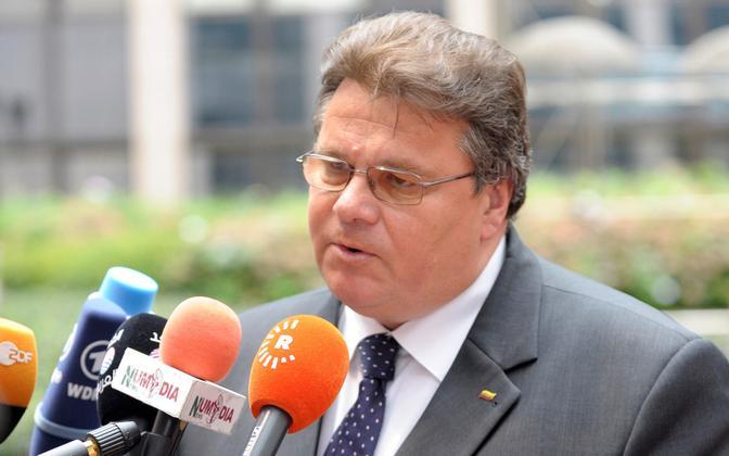 Lithuanian Minister of Foreign Affairs Linas Linkevičius.