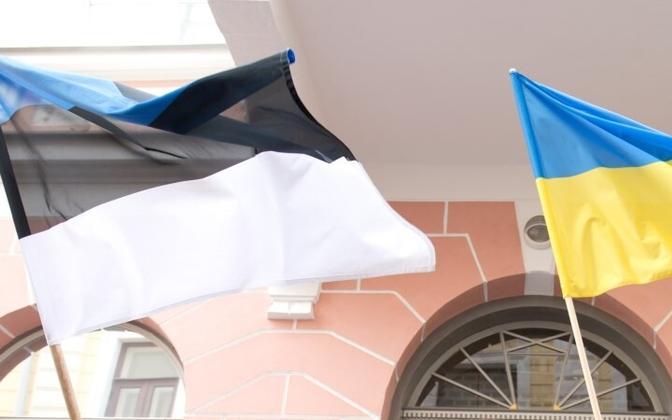 Estonian and Ukrainian flags (picture is illustrative).