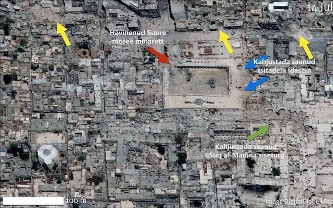 Kõige enam on kahjustada saanud Aleppo vanalinn.