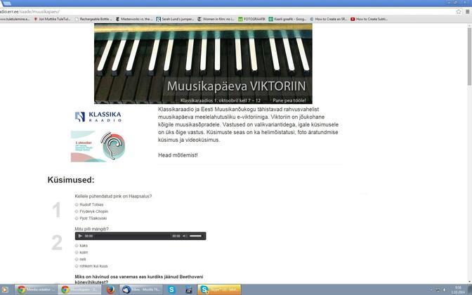 Klassikaraadio Muusikapäeva e-viktoriin