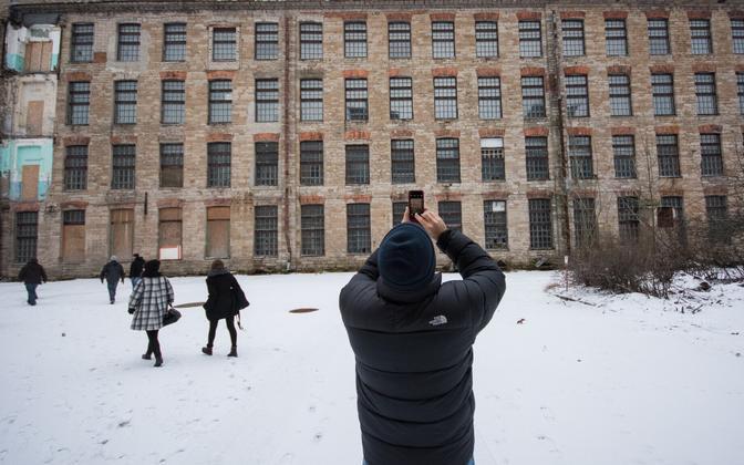 Välismaa filmitegijad Kreenholmi manufaktuuris