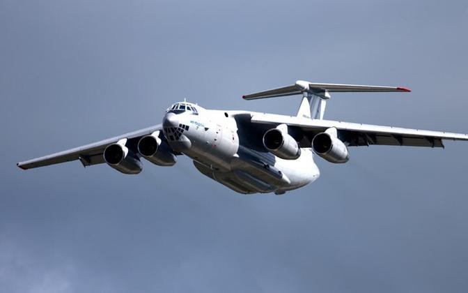 An IL-76 transport plane. Image is illustrative