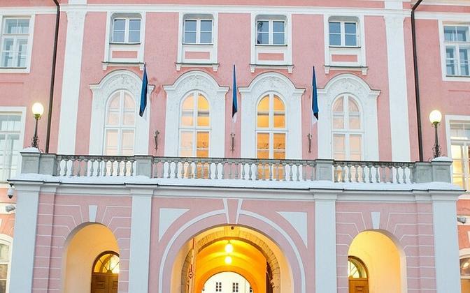 Entrance to Toompea Castle, seat of the Riigikogu in Tallinn.