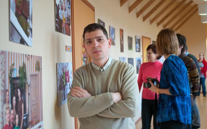 Fotograaf Sergei Trofimov näituse avamisel Kärus.