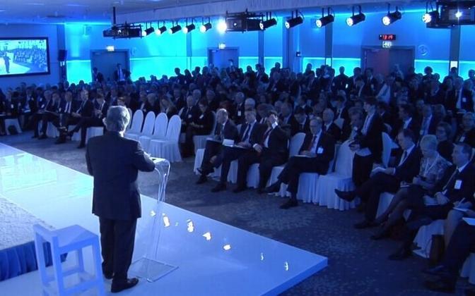 A speaker at the annual Lennart Meri Conference in Tallinn.