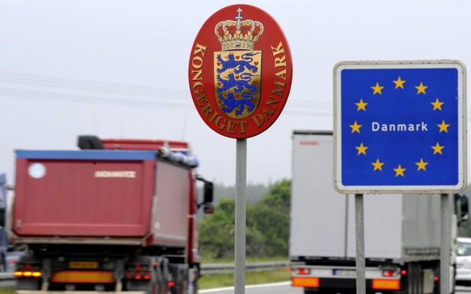 Kontroll Taani piiril 2011. aastal