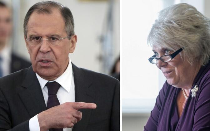 Sergei Lavrov ja Marina Kaljurand