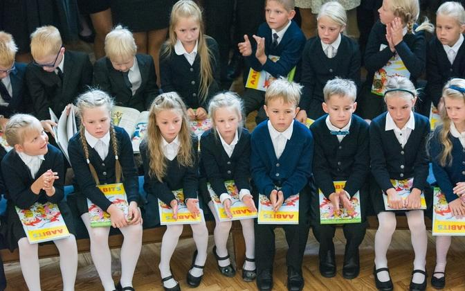 September 1 is the traditional start of the school year in Estonia.